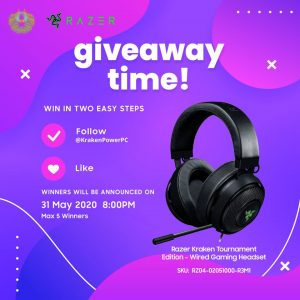 KPPC – Win 1 of 5 Razer Kraken Tournament Edition, Wired Gaming Headsets