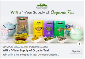 Olympus Organics – Win a year's supply of organic tea
