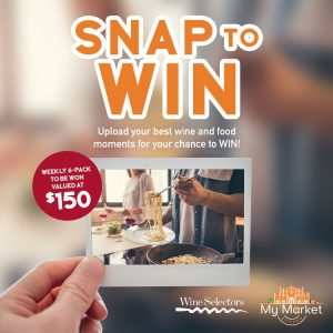 Wine Selectors – Snap to Win 1 of 18 weekly prizes