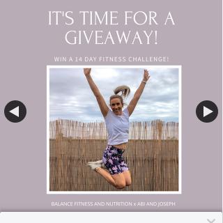 abi & joseph – Win 1 of 2 Copy's of Brooke's 14 Day Strive Self-Isolation Fitness Challenge
