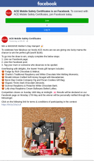 ACE Mobile Safety Certificates – Win a Massive Mother's Day Hamper (prize valued at $100)