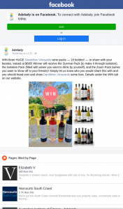 Adelady – Win Three Huge Dandelion Vineyards