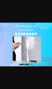 Airflow Lab – Win Our Airflow Lab Portable Air Humidifier (prize valued at $70)