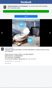 Aldi Australia – Win Our Cast Iron Cookware