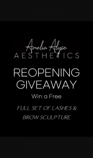 Amelia Alyse Aesthetics – Win a Full Set of Lashes & Brow Sculpture