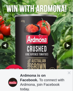 Ardmona – Win a Supply of Ardmona Valued at $600? (prize valued at $600)