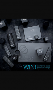 asap Skin Products – Win a Complete Asap Platinum Range