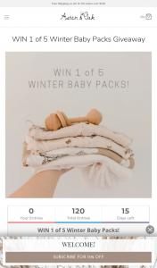 Aster & Oak – Win 1 of 5 Winter Baby Packs Giveaway