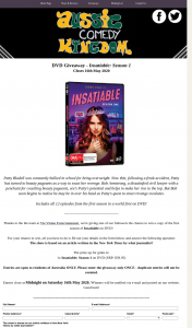 Aussie Comedy Kingdom – Win a Copy of The First Season of Insatiable on DVD