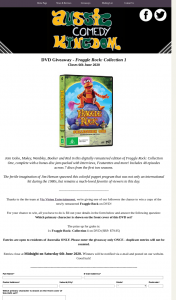 Aussie Comedy Kingdom – Win a Copy of The Newly Remastered Fraggle Rock on DVD