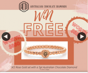 Australian Chocolate Diamonds by Eternity – Win this Gorgeous 9ct Rose Gold Australian Chocolate Diamond Ring (prize valued at $850)