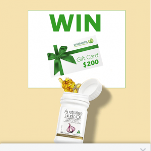 Australian Garlic Oil – Win a $200 Woolworths Gift Card to Spend Online Or In Store (prize valued at $200)