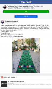 Australian Golf Digest – Win a Club Pro Putting Mat (prize valued at $395)