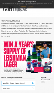 Australian Golf Digest – Win a Year's Supply of Leishman Lager