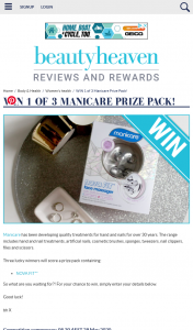 Beauty Heaven – Win 1 of 3 Manicare Prize Pack