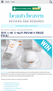 Beauty Heaven – Win 1 of 3 Skin Physics Prize Pack