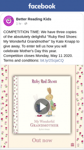 Better Reading Kids – Win One of Three Copies of Ruby Red Shoes My Wonderful Grandmother