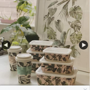 Big Bite Eco – Win 1/2 Monstera Nesting Container Sets With Matching Keepcups