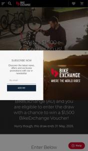 BikeExchange – Win a $1500 Bikeexchange Voucher (prize valued at $1,500)