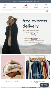 Birdsnest womens clothing – Win a $1000 Golden Ticket (prize valued at $1,000)