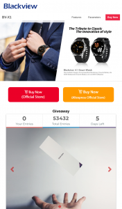 Blackview – Win 10 Units Blackview X1 Smart Watch