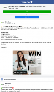 Blendaco – Win a Blendaco Portable Blender $100 Macro Mike Gift Voucher