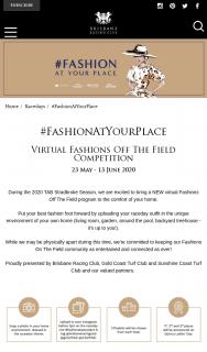 Brisbane Racing Club – Win Various Prizes – Virtual Fashion Off The Field