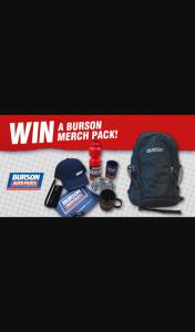 Burson Automotive – Win 1 of 5 Burson Prize Packs (prize valued at $1,500)