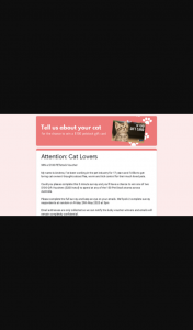 Cat Lovers – Win a $100 Petstock Voucher (prize valued at $100)