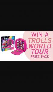 Channel 7 – Sunrise – Win a 'trolls World Tour' Merchandise Pack
