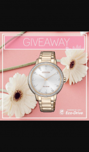 Citizen Watches – Win One of Our Gorgeous Ladies Eco-Drive Models (prize valued at $525)