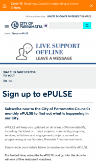 City of Parramatta – Win One of Five Restaurant Vouchers for Promoter's Choice of Restaurant In The City of Parramatta Council Local Government Area (prize valued at $500)