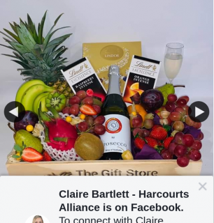 """Claire Bartlett – Win a Deluxe Fruit and Chocolate Hamper With Sparkling Prosecco """" From @thegiftstorefruithampers"""