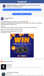 Computer Alliance – Win an Asus Rx570 4gb Expedition Oc Graphics Card