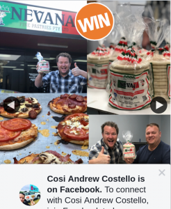 Cosi Andrew Costello – Win a Nevana Pizza Bases Prize Pack??