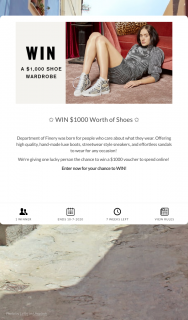 Department of Finery – Win $1000 Worth of Shoes ✩ (prize valued at $1,000)