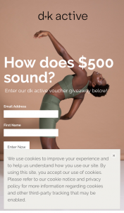 dk active – Win a $500 Voucher (prize valued at $500)