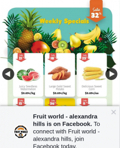Fruit World Alexandra Hills – Win a $25 Voucher (prize valued at $50)