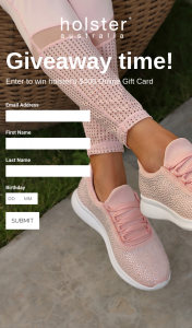 Holster – Win a $400 Online Gift Card (prize valued at $400)