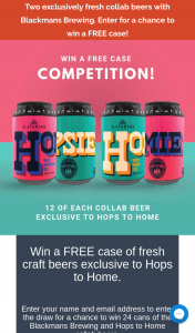 Hops to Home – Win a Free Case