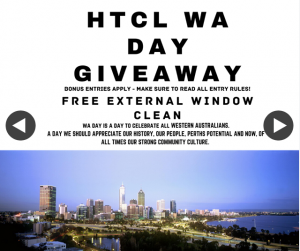 HTCL Cleaners – Win an External Window Clean 6pm