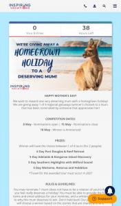 Inspiring Vacations – Win a Holiday (prize valued at $2,676)