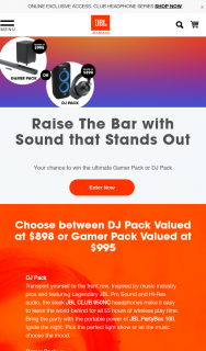 JBL – Win The Ultimate Gamer Pack Or Dj Pack (prize valued at $898)