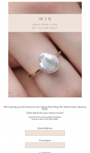 Kerry Rocks Jewellery – Win a Biwa Pearl Ring (prize valued at $320)