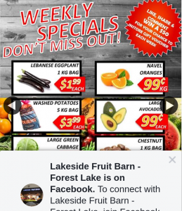 Lakeside Fruit Barn Forest Lake – Weekly In-Store Gift
