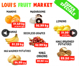 Louis Booval Fruit Market – Win $50 Fruit/veg Tray