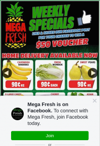 Mega Fresh Browns Plains – Win a $50 Fruit and Veg Voucher for Mega Fresh Browns Plains for Sharing Our Ads (prize valued at $50)