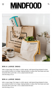 MindFood – Win a Large Swag (prize valued at $23.95)