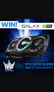 PC CaseGear – Win a Galax Rtx 2070 Super Hall of Fame 10th Anniversary Edition Gpu
