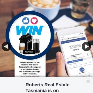 Roberts Real Estate Tasmania – Win Delonghi Nespresso Inissia Pod Machine Plus Pods)(maybe Pickup